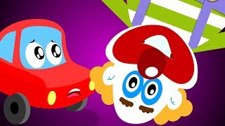 Upside Down Clown | Little Red Car Cartoons Videos For Kids | Fun Clown