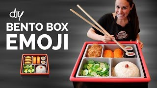 DIY BENTO BOX 🍱 FOOD EMOJIS IN REAL LIFE 🍣🍤