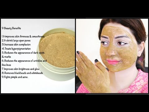 Clay mask ng puting luad facial