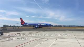 Sun Country Airlines arrives at STS Airport