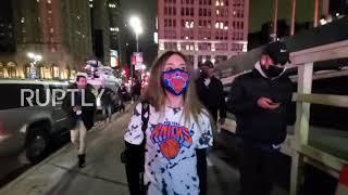 USA: Fani koszykówki cieszą się z ponownego otwarcia Madison Square Garden na mecz Knicks vs Warriors.
