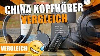 CHINA KOPFHÖRER VERGLEICH - Bluedio T2+, AUSDOM M06 & AEC BQ618 [Review, German, Deutsch]