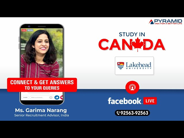 Lakehead University, Canada Facebook- Live!