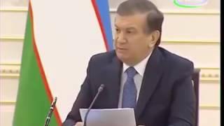 Шавкат Мирзиёев распекает чиновников минздрава