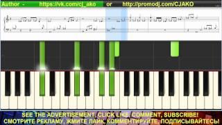 CJ AKO Ласковая Грусть Synthesia Самая красивая мелодия Piano Music на пианино Музыка для души