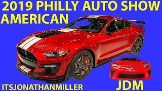 NEW YOUTUBE VIDEO-SHELBY GT500, LEXUS LFA (JDM AND AMERICAN) AT 2019 PHILLY AUTO SHOW