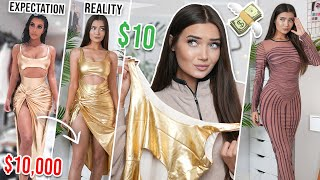 TRYING ON KIM KARDASHIAN DRESS REMAKES! I DID NOT EXPECT THIS!