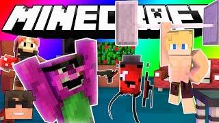 Minecraft Do Not Laugh | BUFF GUY HQ PROGRAM! (SkyDoesMinecraft Do Not Laugh Challenge)