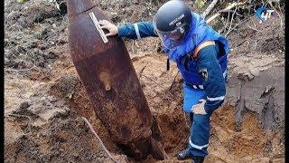 В Хвойнинском районе обнаружили и уничтожили неразорвавшуюся авиабомбу времен Великой Отечественной