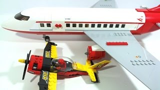 LEGO City Race Plane Speed Build and Stop Motion