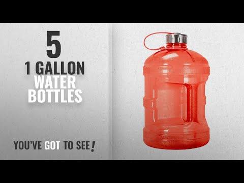 Best 1 Gallon Water Bottles [2018]: 1 Gallon BPA FREE Reusable Plastic Drinking Water Bottle w/