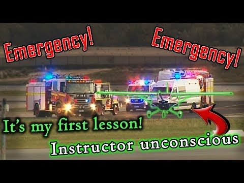 Student Pilot MAKES EMERGENCY LANDING | Instructor Passed Out!