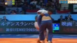 Judo 2009 Rotterdam: Varlam Liparteliani (GEO) - Ilias Iliadis (GRE) [-90kg].