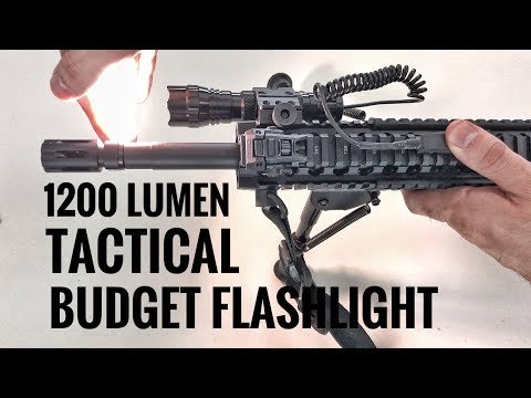 1200 Lumen Tactical Budget Flashlight Review