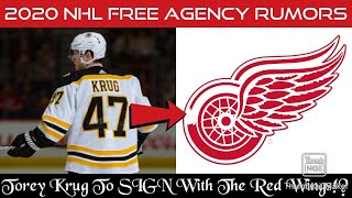 Torey Krug To SIGN With The Detroit Red Wings In The Off-Season!? (2020 NHL Free Agency Rumors)