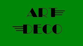 ART DECO - Visual Learning Period Design