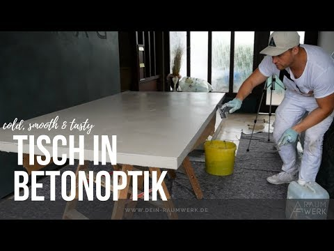 BETONOPTIK | Esszimmertisch bekommt neue Haut