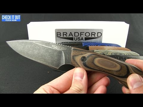 Bradford Knives Guardian4 Fixed Blade Knife 3D Black Micarta (Sabre/Nimbus/V4E)