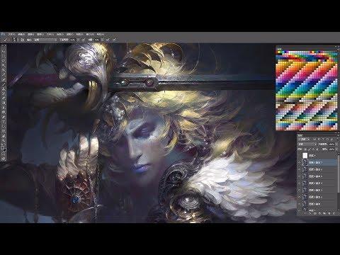 digital painting concept art swordsman by digital painting cg