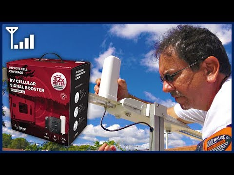RV Cellular Signal Booster Unboxing, Installation, and Review