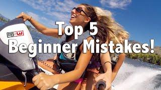 Top 5 Mistakes Beginner Personal Watercraft Jet Ski Riders Make
