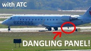 "Pilot reports: ""DANGLING PANEL"" on Air Georgian CRJ-200 | Aborted Takeoff at Toronto YYZ (with ATC)!"