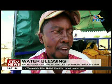 Mutomo residents welcome water discovery after excavation at quarry