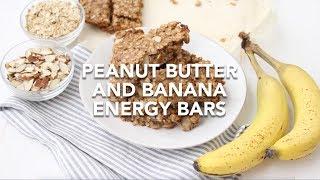 Peanut Butter And Banana Energy Bars