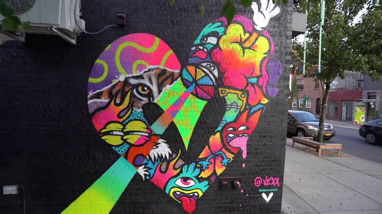 mural painting in new york city by vexx