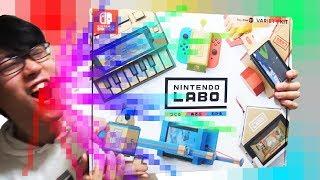 究極の紙シンセ!!?ニンテンドーラボで楽しく遊びながらレビュー Let's Enjoy Nintendo Labo
