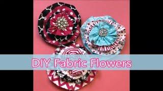 How To Make Fabric Flowers -  No Sew Fabric Flower Tutorial
