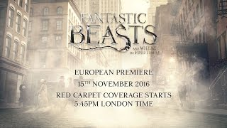 Фантастические звери и где они обитают, Fantastic Beasts And Where To Find Them: Live European Premiere from London