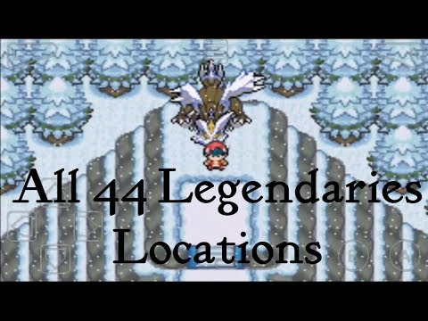 All Legendary Pokemon Locations In Pokemon Light Platinium