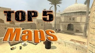 Top 5 Most Popular Maps in Counter Strike Source CSS