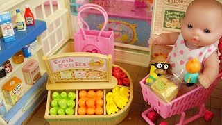 Baby doli and fruit food shop baby doll toys play