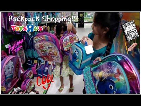 Backpack and Snack bag shopping   Buy backpack and get snack bag FREE at Toys R Us