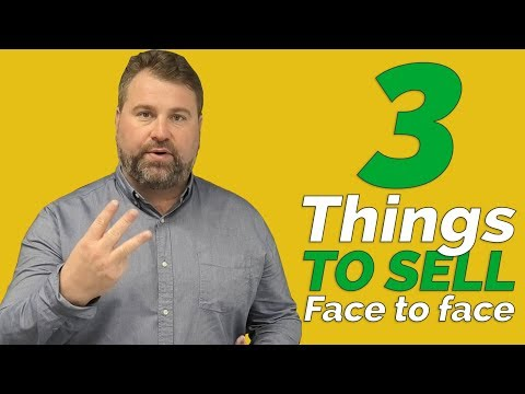 , title : 'Face To Face Sales - 3 Things You Need When Selling Face To Face - How To Sell - Matthew Elwell