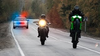 Топ неудачных уходов от ДПС! / Лучшие погони за мотоциклистами!