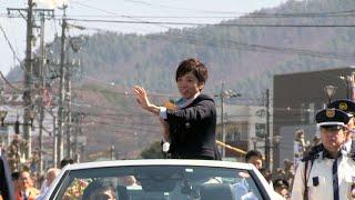 平昌で金メダルの小平奈緒、地元・茅野市で祝賀パレード
