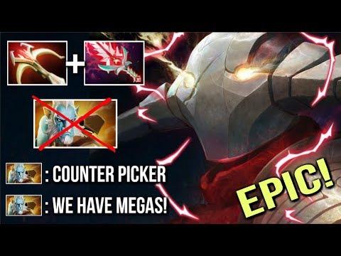 BRUTAL 50% Crit Sven Counter Phantom Cancer Top 2 MMR Disaster Game Mega Comeback WTF Dota 2