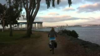 Cutting Through Coronado Golf Course Towards Bridge