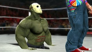 HULK As Jason Voorhees VS Chucky - Hell In A Cell Match