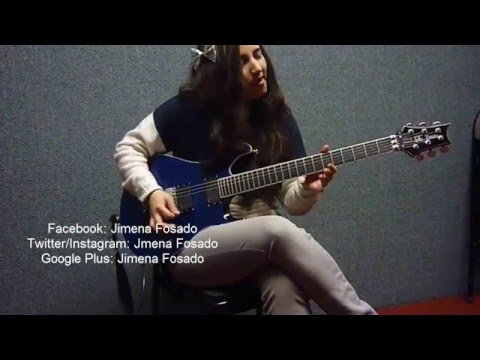 Solo of me playing In the dragon's den by Symphony X.