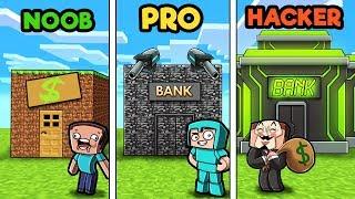 Minecraft - SECURE BANK CHALLENGE! (NOOB vs PRO vs HACKER)