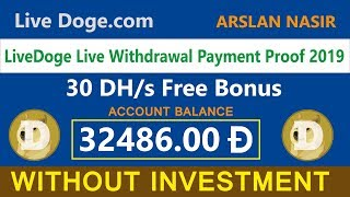 LiveDoge Free Dogecoin Cloud Mining Site Live Withdrawal Payment Proof 2019 In Urdu Hindi