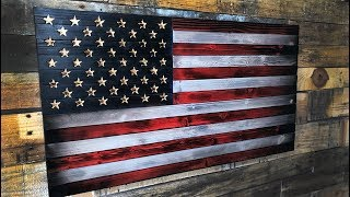 How To Build A Burnt Wood American Flag #Merica