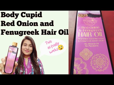 , title : 'Body Cupid Red Onion and Fenugreek Hair Oil Honest Review   This Actually Works   The Shubhi Tips!!