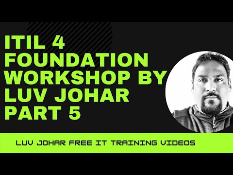 ITIL 4 Foundation Workshop by Luv Johar Part 5