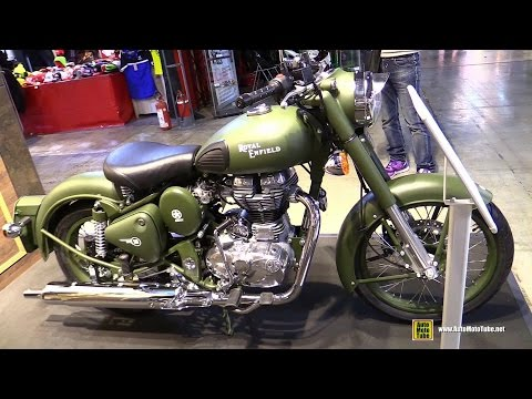 2015 Royal Enfield Classic 500 Battle Green - Walkaround - 2014 EICMA Milan Motorcycle Exhibition