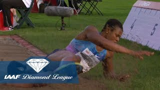 Blessing Okagbare drops her hair in the Women